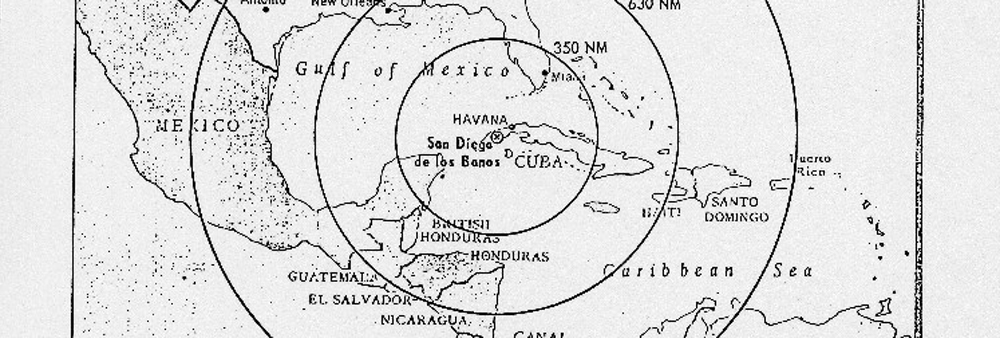 MAP OF MISSILE RANGE IN CUBA